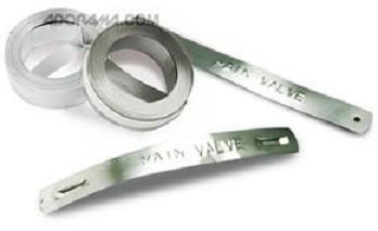 325-00 Dymo metal RVS tape niet klevend 12.7mm X 6.40m