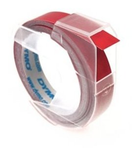 1X Rood Dymo Lettertape 3D 9mm voor Dymo handlettertang