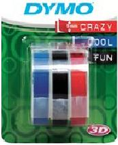 3 Kleuren tape Dymo LetterTape 3D 9mm voor Dymo handtang
