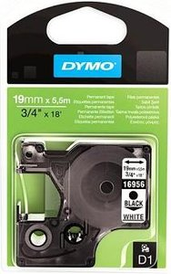 16960 Dymo D1 Perm. Polyester tape 19mm Wit
