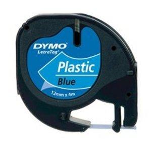 91205 Dymo Letratag plastictape 12mm Blauw