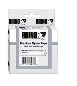 18488 Rhino Nylon flex 12mm Wit